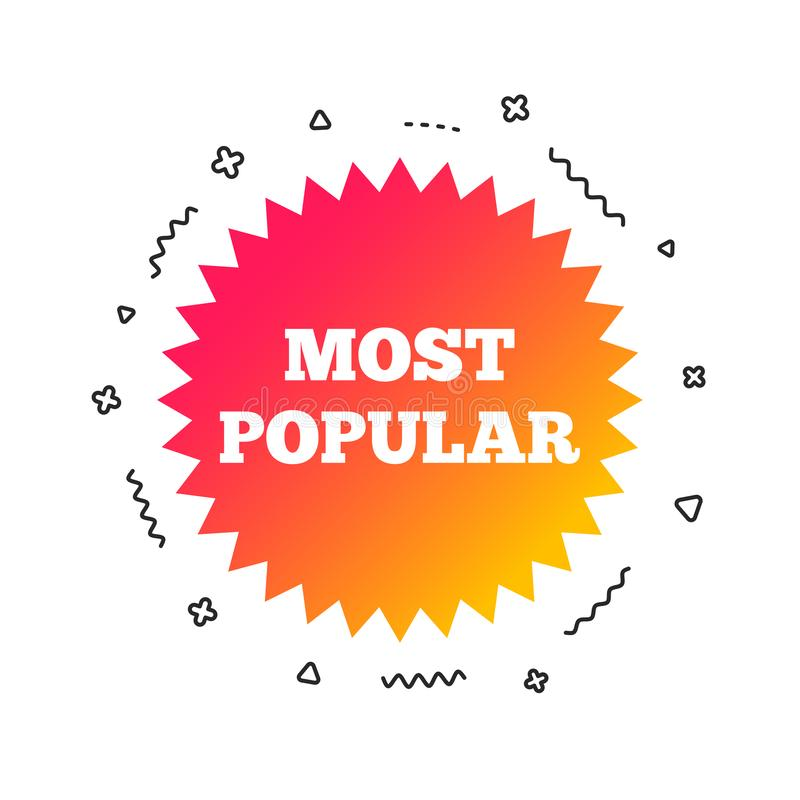 Free Most Popular Sign Icon. Bestseller Symbol. Vector Royalty Free Stock Images - 132592099