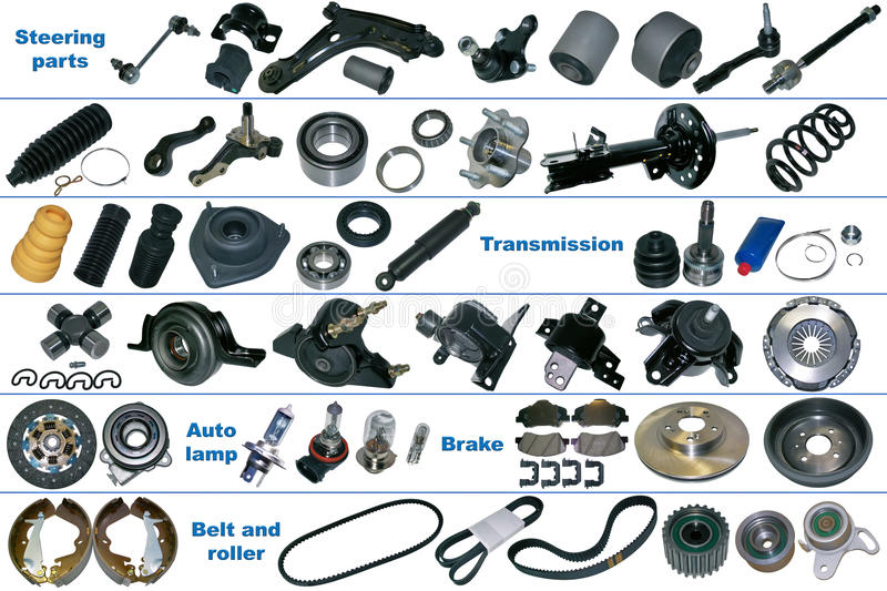 The Most Popular Spare Parts For Car Stock Image - Image of spare ...