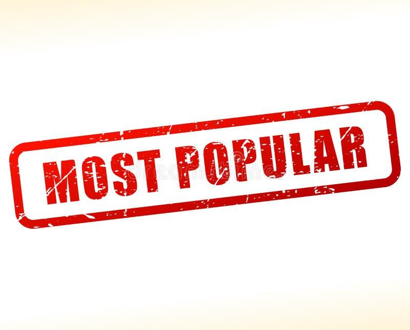 Most popular stamp. Illustration of most popular stamp on white background stock illustration