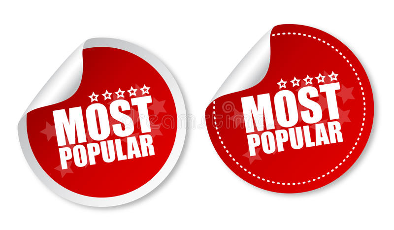 Most popular stickers stock illustration
