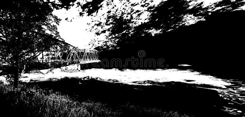Most poza royalty ilustracja