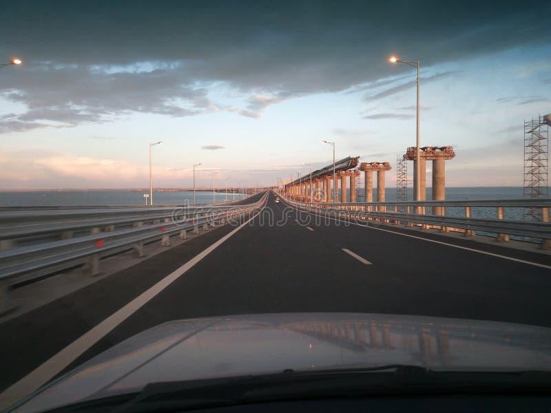 Most przez Kerch cieśninę obraz royalty free