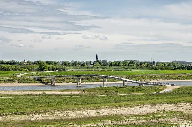 Most przez nowego rzecznego kanał obraz stock