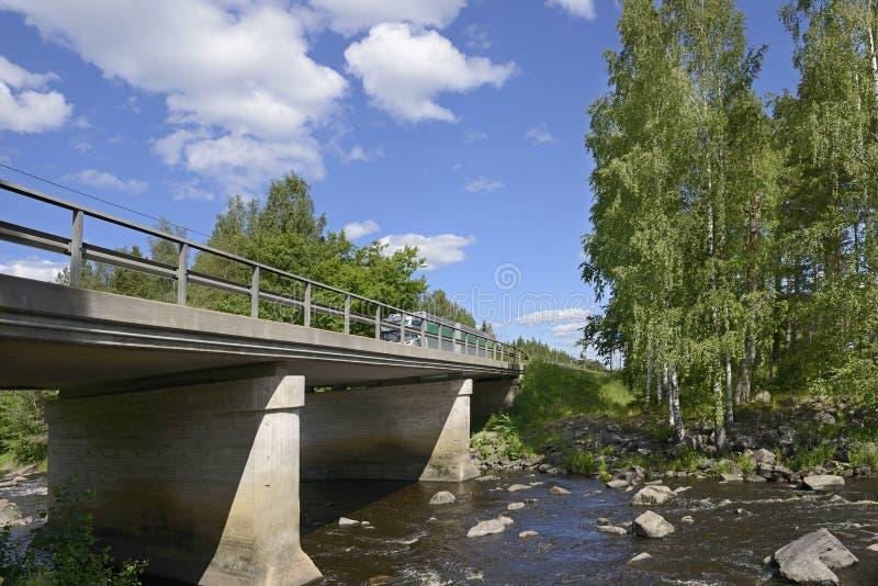 Most przez północną rzekę obraz stock