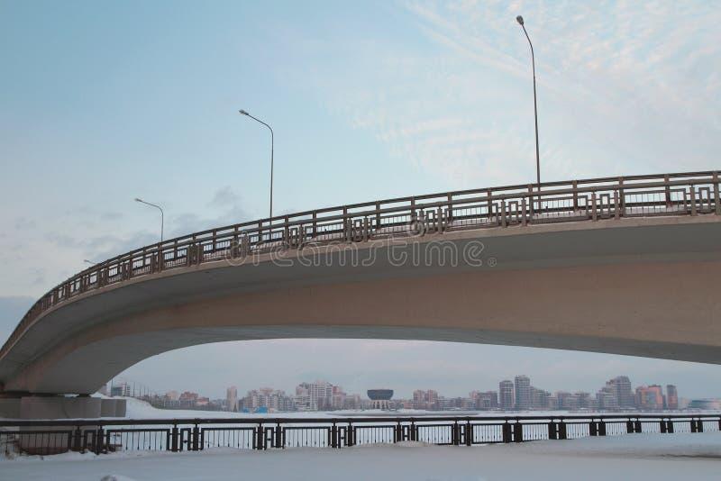 Most przez rzeki i miasta kazan Russia obrazy stock