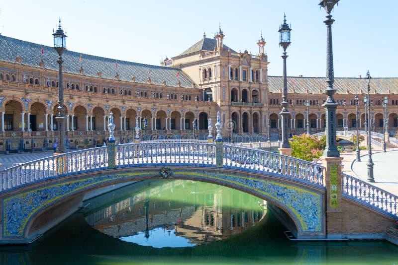 Most przy Hiszpania kwadratem fotografia royalty free