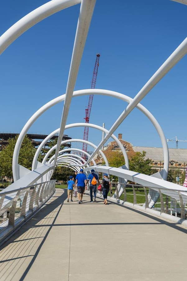Most przy jarda parkiem fotografia royalty free