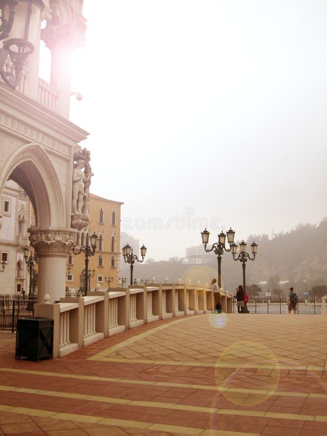 Most przy Weneckim kasynem zdjęcia stock