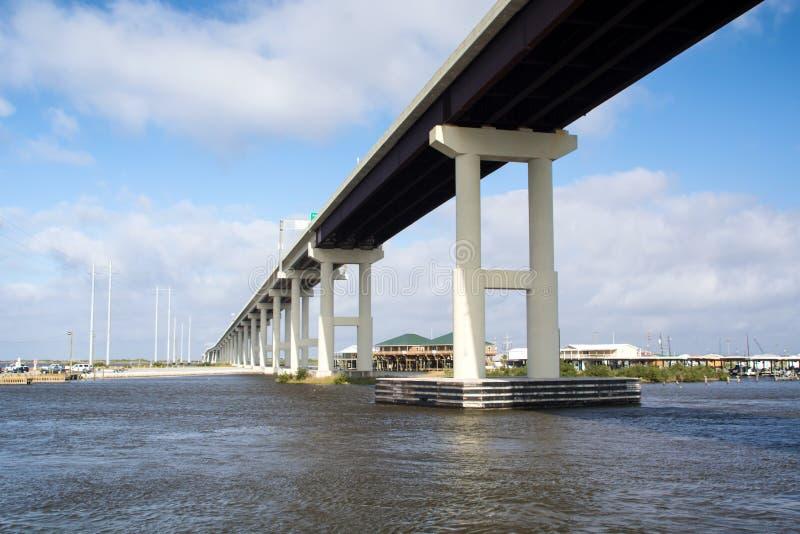 Most przy zalewiskiem Lafourche zdjęcia royalty free