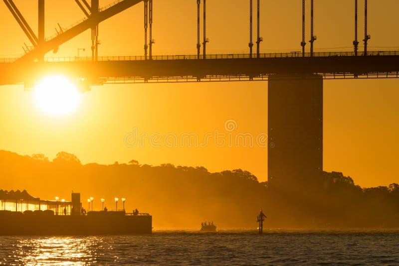 most schronienie sunset Sydney obrazy royalty free