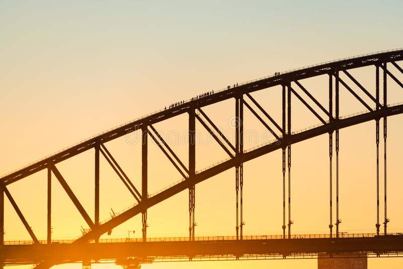 most schronienie sunset Sydney fotografia stock