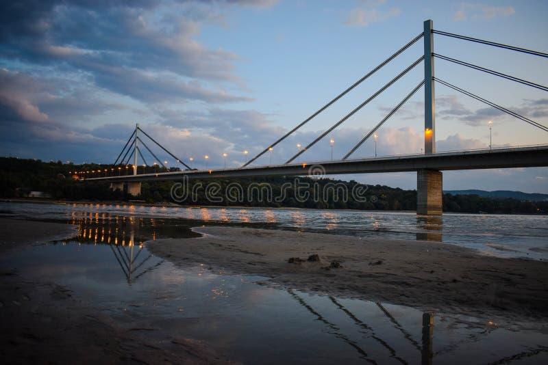 Most slobode, Novi Sad, Serbia zdjęcie stock