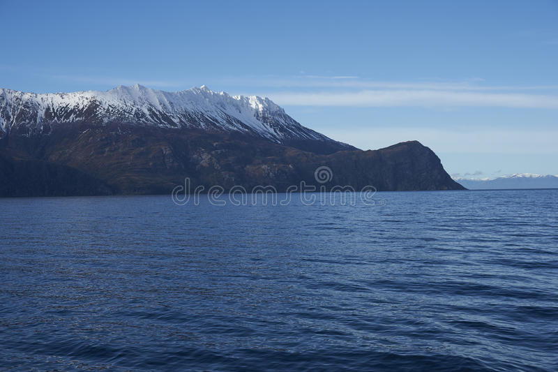 Most southerly point of mainland South America. Cape Froward, the most southerly point of mainland South America. located on the northern side of the Magellan royalty free stock photo