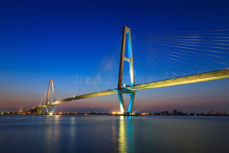 Most Stary zniszczony most obraz royalty free