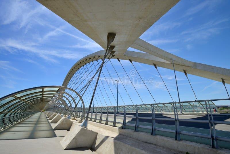 Most trzeci milenium w Zaragoza zdjęcia stock