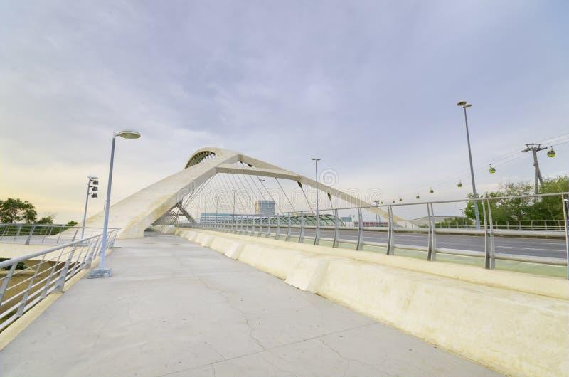Most trzeci milenium w Zaragoza na 16, Maj 2013. fotografia royalty free
