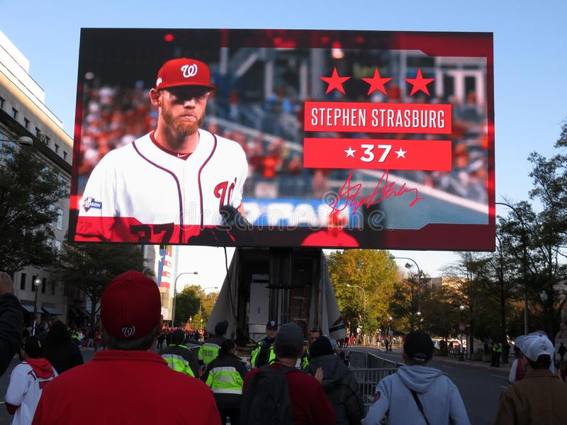 Most Valuable Player Stephen Strasburg royalty free stock photo