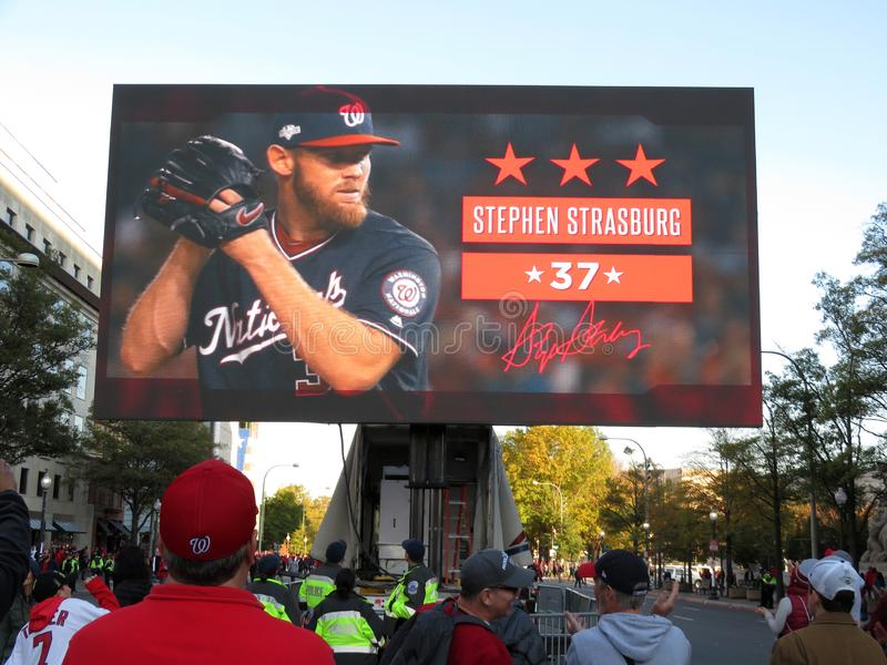 Most Valuable Player Stephen Strasburg of the Washington Nationals royalty free stock image