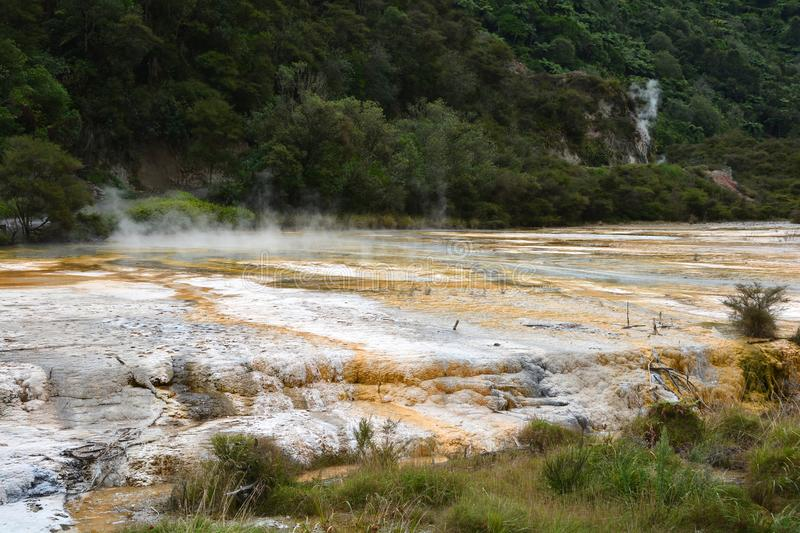 Wai-O-Tapu Thermal Wonderland. The most visited Wai-O-Tapu Thermal Wonderland, Rotorua, New Zealand stock images