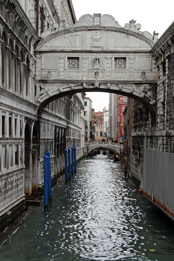 most Włoch wzdycha Wenecji zdjęcie royalty free