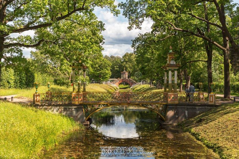 Most w Aleksander parku zdjęcia stock
