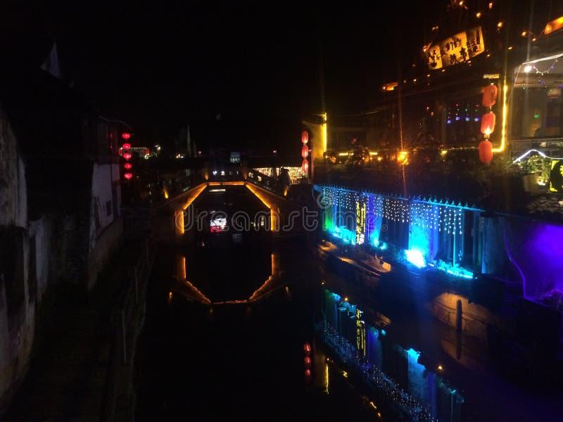Most w antycznym mieście obraz royalty free