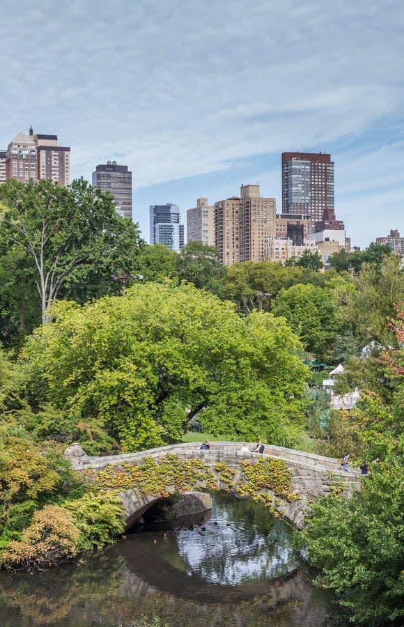 Most w central park, Miasto Nowy Jork zdjęcie royalty free