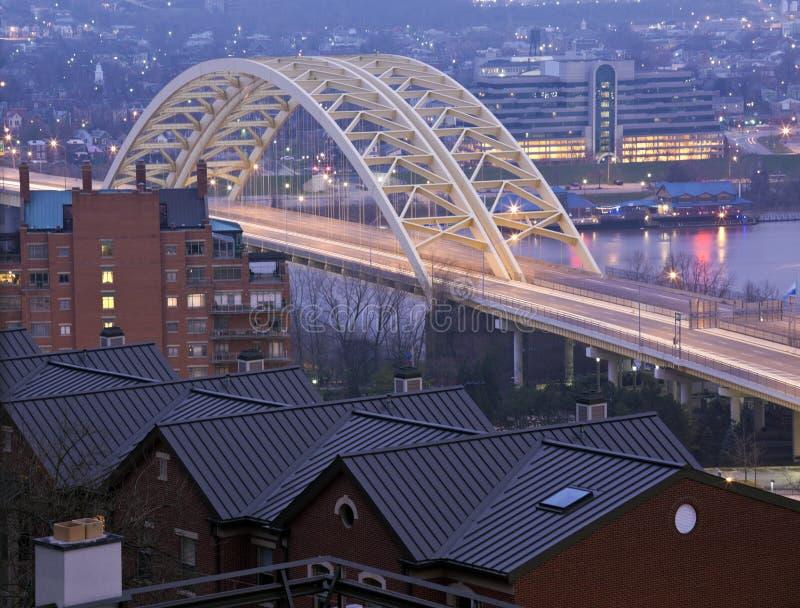 Most w Cincinnati obrazy stock