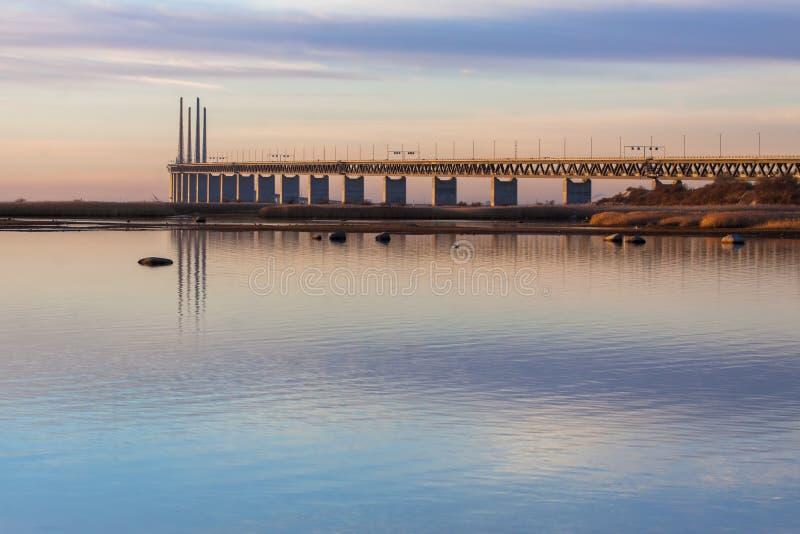 Most w Grudnia zmierzchu zdjęcia royalty free