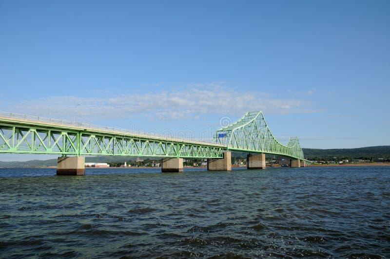 Most w Quebec obraz royalty free