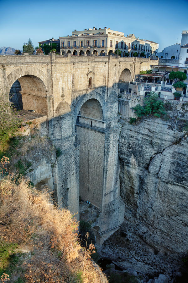 Most w Ronda fotografia stock