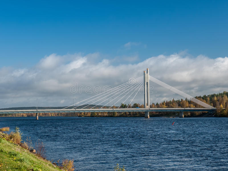 Most w Rovaniemi obrazy stock