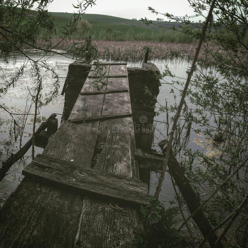 Most w wodzie obraz stock