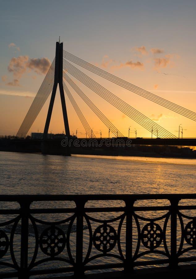 Most w zmierzchu, Ryskim zdjęcia royalty free