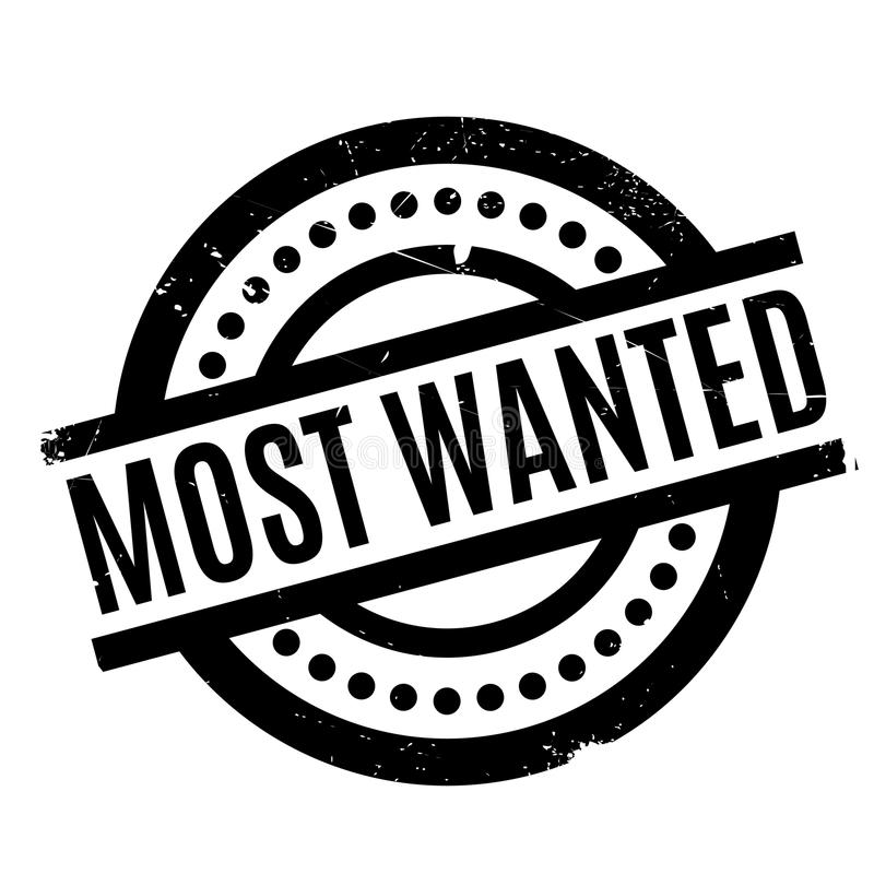 Most Wanted rubber stamp. Grunge design with dust scratches. Effects can be easily removed for a clean, crisp look. Color is easily changed vector illustration
