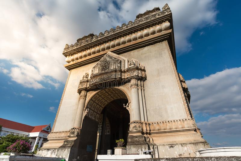 Patuxai in Vientiane, Laos royalty free stock photos