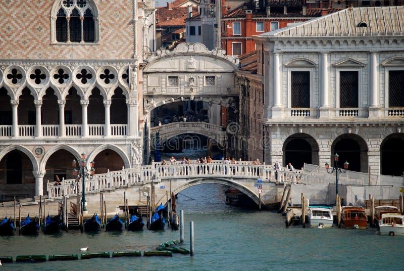 Most westchnienia Wenecja Włochy zdjęcia royalty free