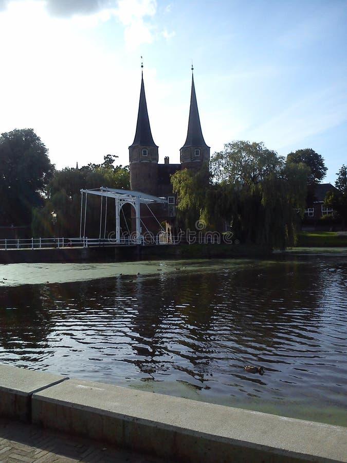 Most z kasztelem zdjęcia stock