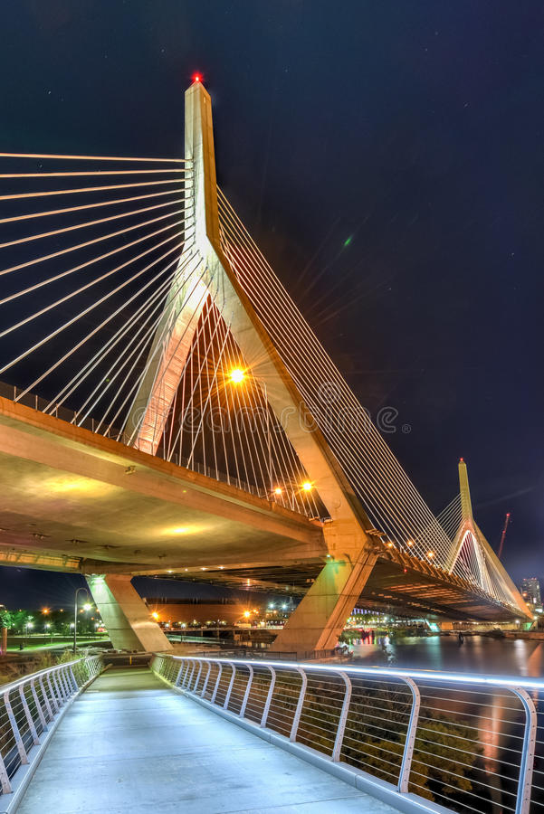 most zakim bostonu obraz stock