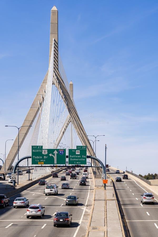 most zakim bostonu fotografia stock
