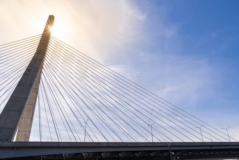 most zakim bostonu obrazy royalty free