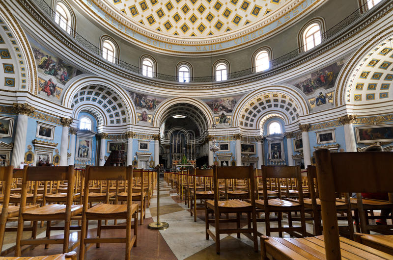 Mosta圆顶大教堂-马耳他 免版税库存图片