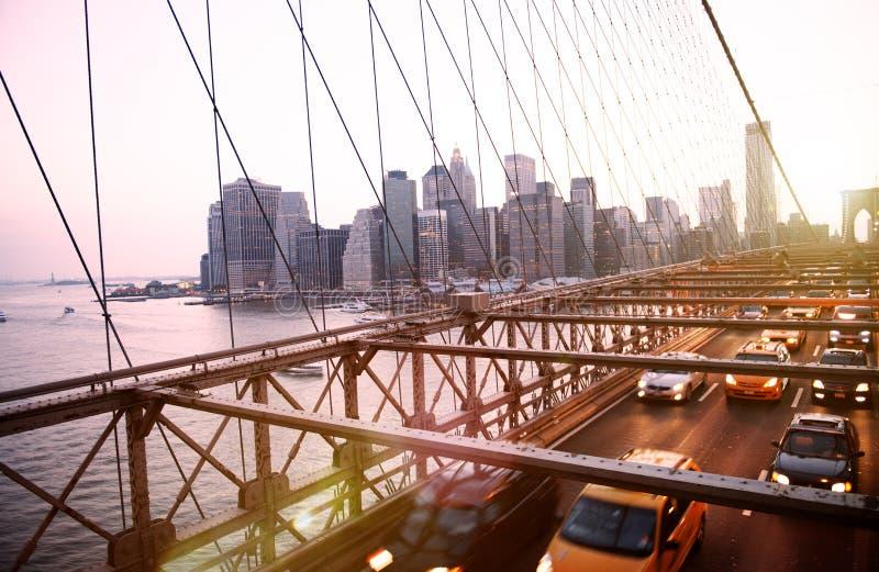 Mosta Brooklyńskiego punktu zwrotnego architektury metropolita pojęcie zdjęcia royalty free