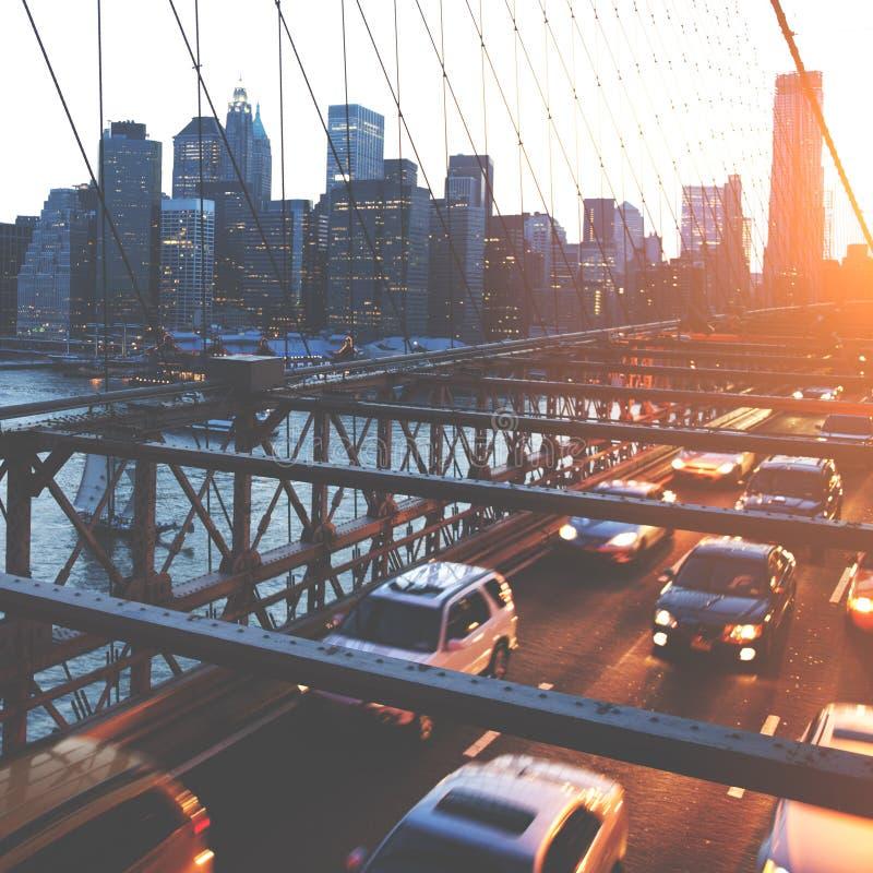 Mosta Brooklyńskiego punktu zwrotnego architektury metropolita pojęcie obraz stock
