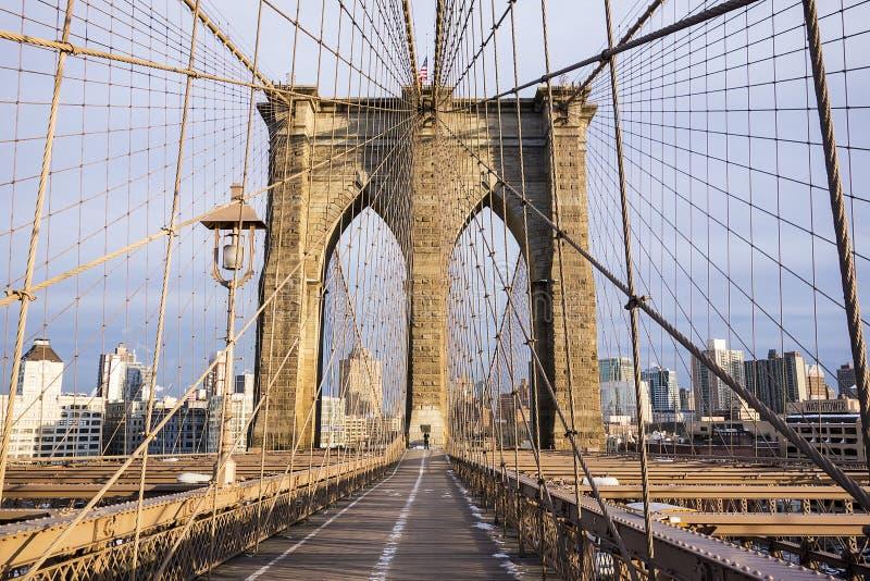 Mosta Brooklyńskiego wierza fotografia royalty free