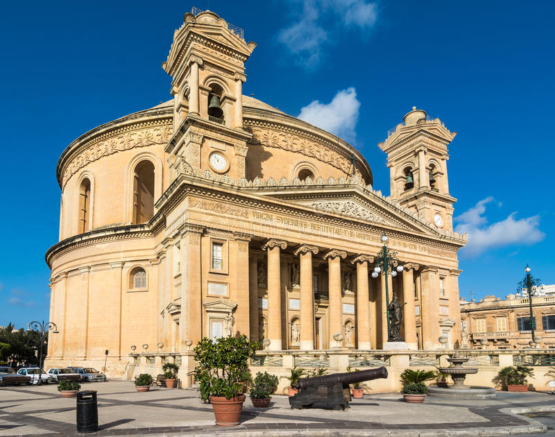 Mosta dome in Malta stock photography