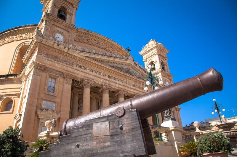 Mosta Haube, Malta lizenzfreies stockfoto