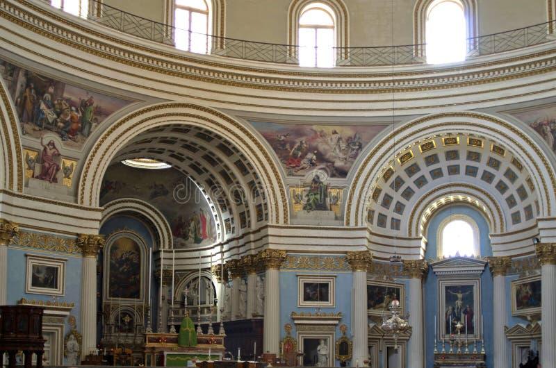 Mosta kupol royaltyfri bild