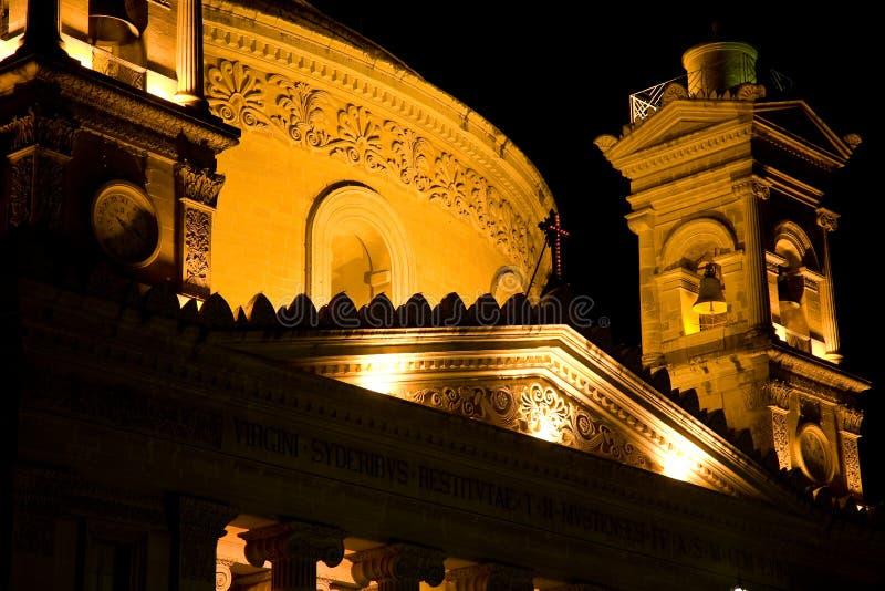 Mosta kupol, Malta royaltyfria foton