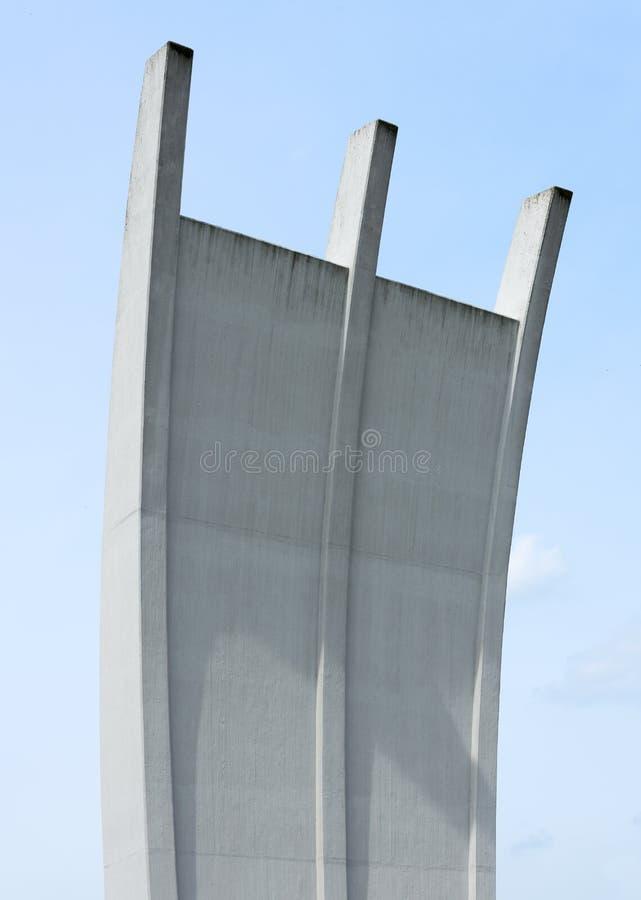 Mosta powietrznego zabytek Frankfurt zdjęcia royalty free